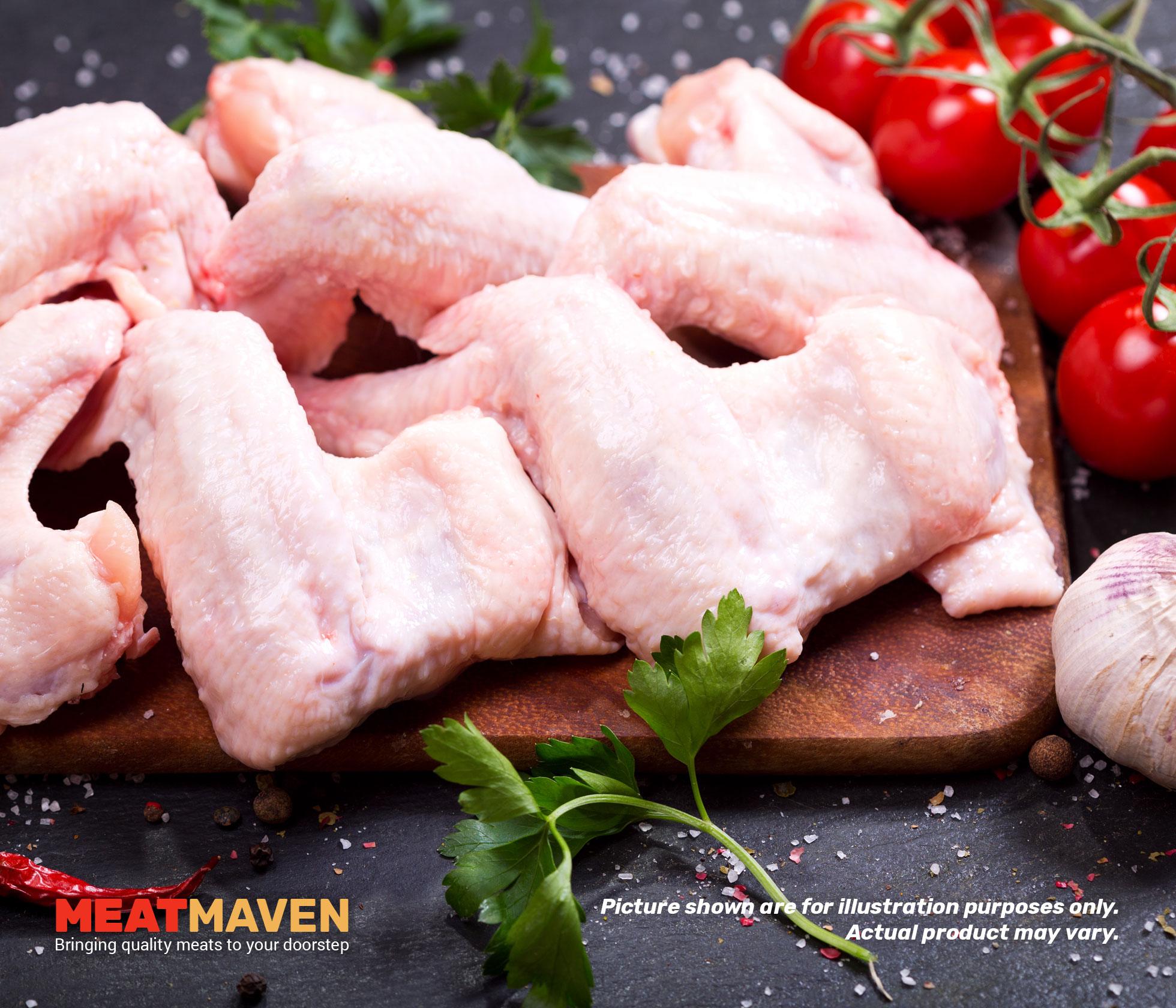 Whole Chicken Wings 1 Kg Meat Maven Diagram Leg Detailed Wing Raw